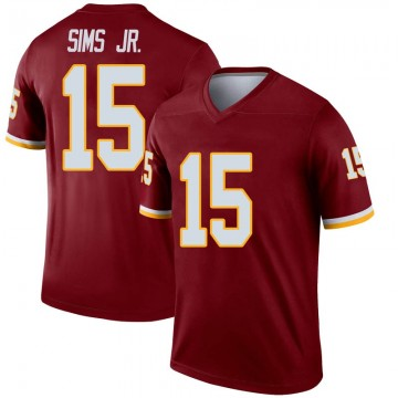 Youth Nike Washington Redskins Steven Sims Jr. Inverted Burgundy Jersey - Legend