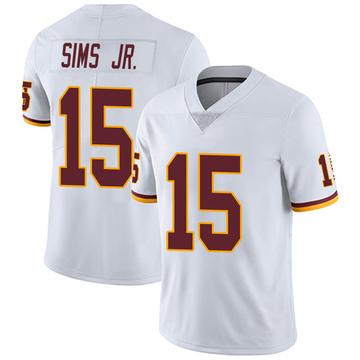 Youth Nike Washington Redskins Steven Sims Jr. White Vapor Untouchable Jersey - Limited