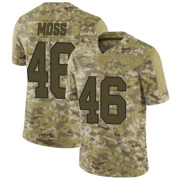 Youth Nike Washington Redskins Thaddeus Moss Camo 2018 Salute to Service Jersey - Limited
