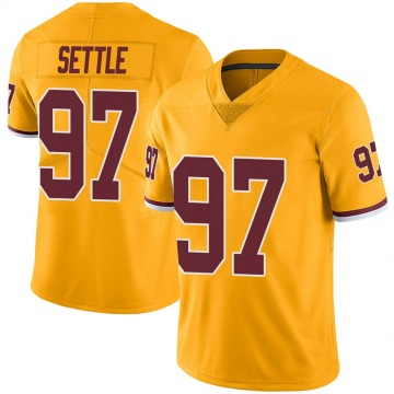 Youth Nike Washington Redskins Tim Settle Gold Color Rush Jersey - Limited
