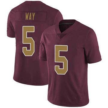 Youth Nike Washington Redskins Tress Way Burgundy Alternate Vapor Untouchable Jersey - Limited