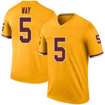 Youth Nike Washington Redskins Tress Way Gold Color Rush Jersey - Legend