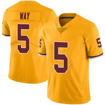 Youth Nike Washington Redskins Tress Way Gold Color Rush Jersey - Limited