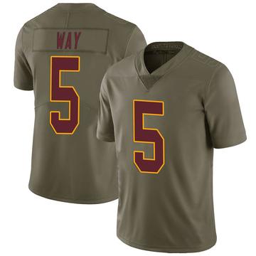 Youth Nike Washington Redskins Tress Way Green 2017 Salute to Service Jersey - Limited