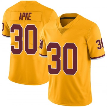 Youth Washington Redskins Troy Apke Gold Color Rush Jersey - Limited