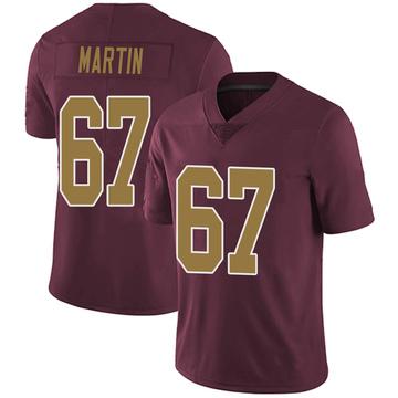 Youth Nike Washington Redskins Wes Martin Burgundy Alternate Vapor Untouchable Jersey - Limited