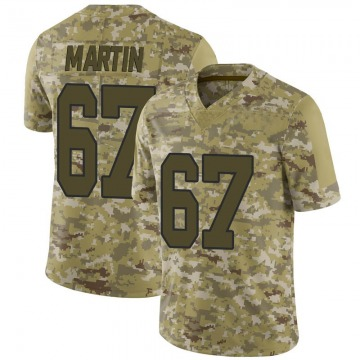 Youth Washington Redskins Wes Martin Camo 2018 Salute to Service Jersey - Limited