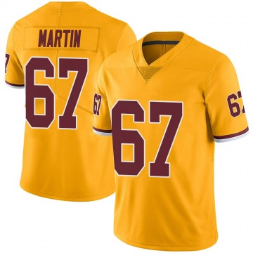 Youth Nike Washington Redskins Wes Martin Gold Color Rush Jersey - Limited