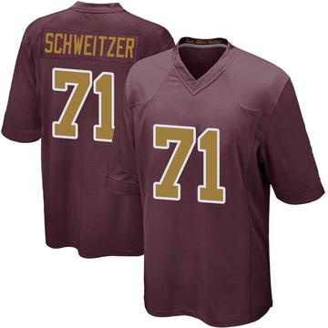 Youth Nike Washington Redskins Wes Schweitzer Burgundy Alternate Jersey - Game