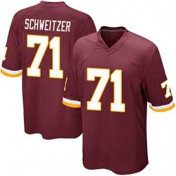 Youth Nike Washington Redskins Wes Schweitzer Burgundy Team Color Jersey - Game