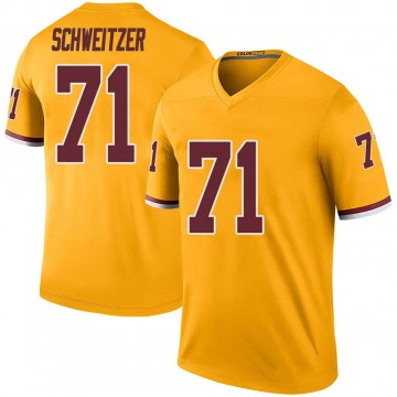 Youth Nike Washington Redskins Wes Schweitzer Gold Color Rush Jersey - Legend