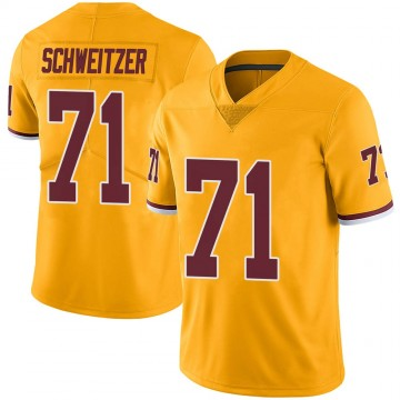 Youth Nike Washington Redskins Wes Schweitzer Gold Color Rush Jersey - Limited