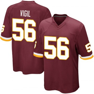 Youth Nike Washington Redskins Zach Vigil Burgundy Team Color Jersey - Game