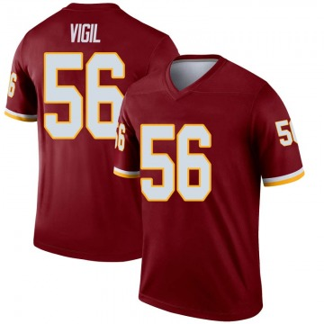 Youth Nike Washington Redskins Zach Vigil Inverted Burgundy Jersey - Legend