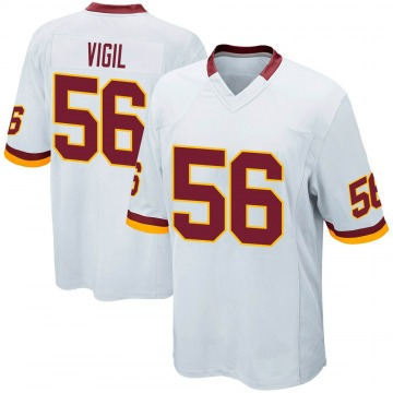 Youth Nike Washington Redskins Zach Vigil White Jersey - Game